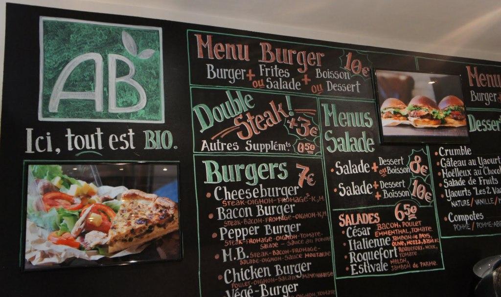 Carte Bioburger